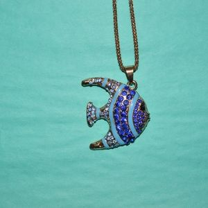 Rare Betsey Johnson Tropical Fish Necklace